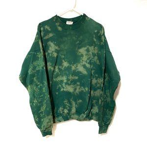 Custom Dyed Green Crewneck
